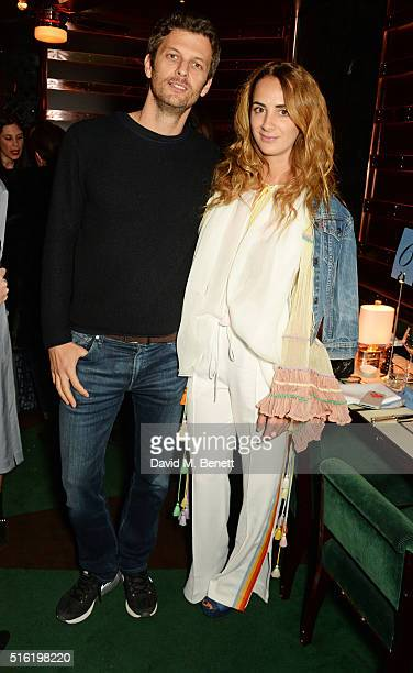 Sasha Pesko and Alexia Niedzielski attend a dinner hosted by Roger Vivier to celebrate the Prismick Denim collection by Camille Seydoux at Casa Cruz...
