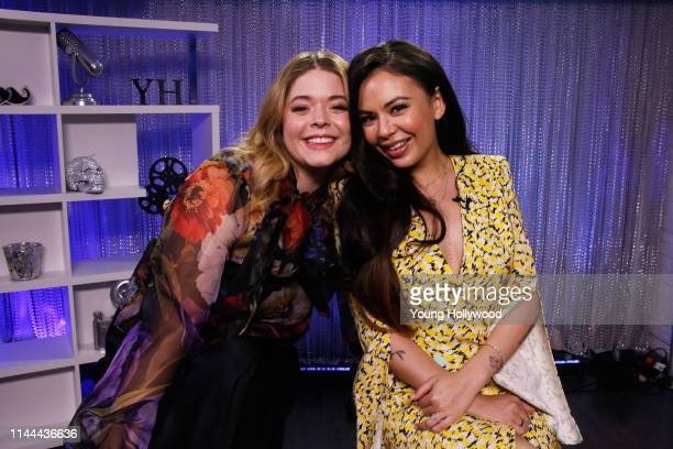 Sasha Pieterse and Janel Parrish at the Young Hollywood Studio on April 22 2019 in Los Angeles California