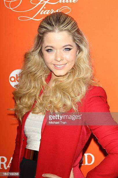Sasha Pieterse arrives at the 'Pretty Little Liars' celebrates Halloween episode held at Hollywood Forever on October 15 2013 in Hollywood California