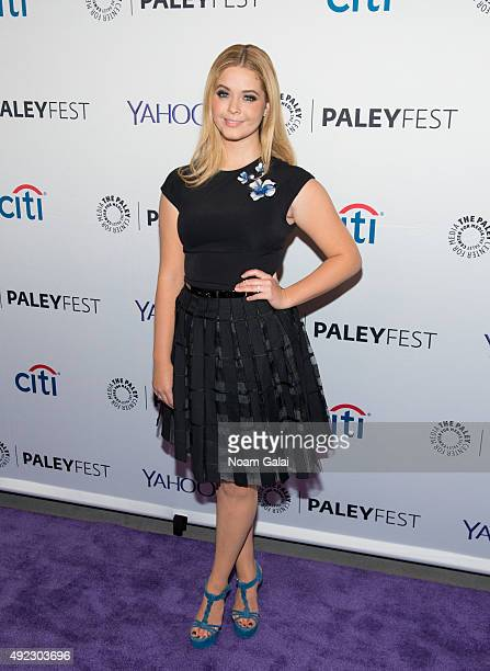 Sasha Pieterse attends 'Pretty Little Liars' QA during the PaleyFest New York 2015 at The Paley Center for Media on October 11 2015 in New York City