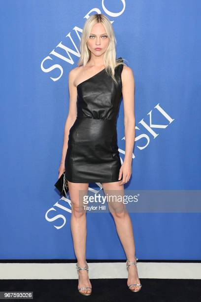 Sasha Pivovarova attends the 2018 CFDA Awards at Brooklyn Museum on June 4 2018 in New York City