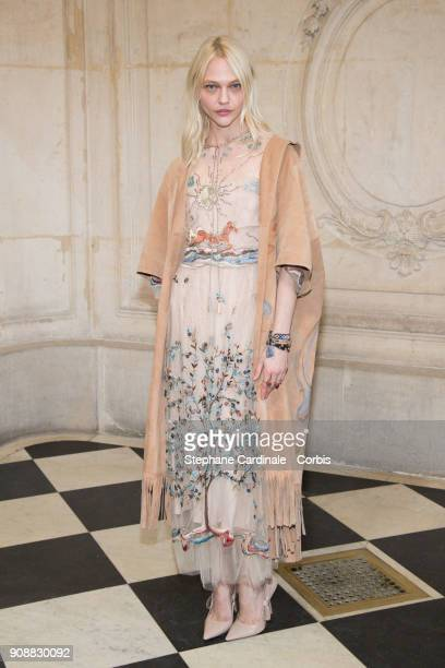 Sasha Pivovarova attends the Christian Dior Haute Couture Spring Summer 2018 show as part of Paris Fashion Week January 22 2018 in Paris France