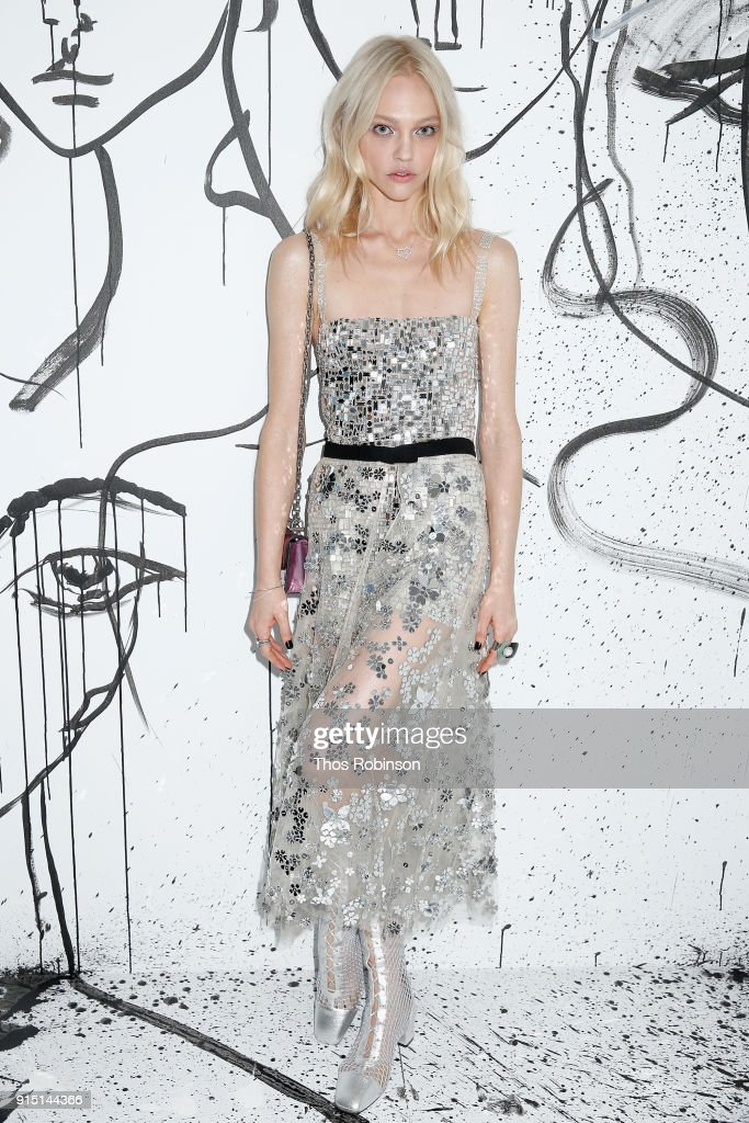 Sasha Pivovarova attends the Dior Spring-Summer 2018 Collection launch event at Milk Garage on February 6, 2018 in New York City.