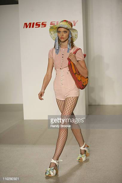 Sasha Pivovarova wearing Miss Sixty Spring 2007 during Olympus Fashion Week Spring 2007 Miss Sixty Runway at Guggenheim Museum in New York City New...