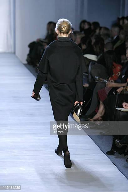 Sasha Pivovarova wearing Ports 1961 Fall 2007 during MercedesBenz Fashion Week Fall 2007 Ports 1961 Runway at The Salon Bryant Park in New York City...