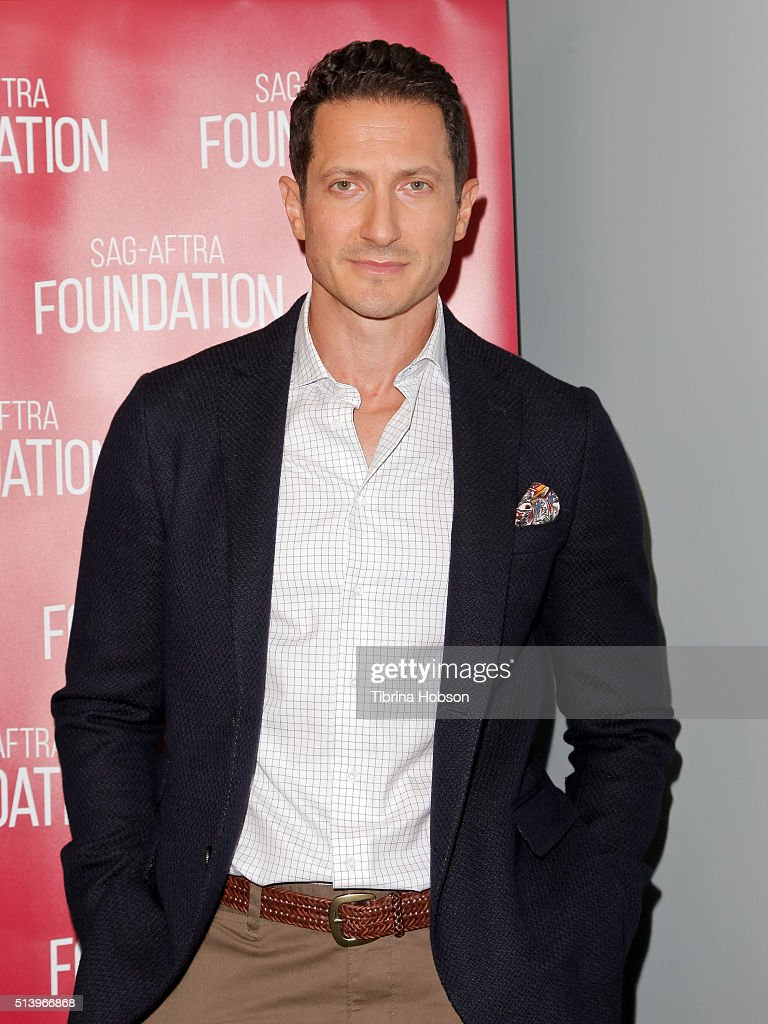 Sasha Roiz attends the SAG-AFTRA Foundation Conversations with the 'Grimm' cast at SAG-AFTRA Foundation on March 5, 2016 in Los Angeles, California.