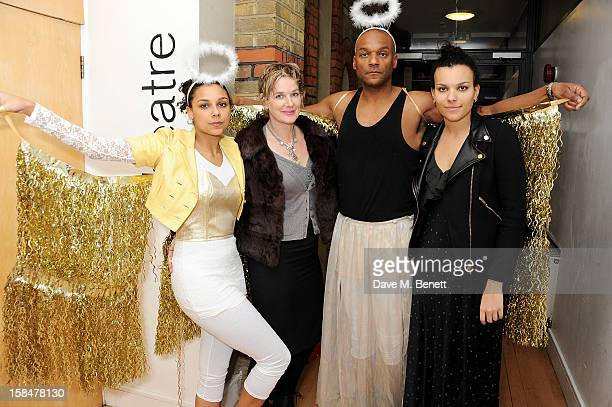 Sasha Salmon Fiona Hawthorne Colin Salmon and Rudi Salmon attend the Portobello Road Christmas Panto at the Tabernacle in Notting Hill on December 17...