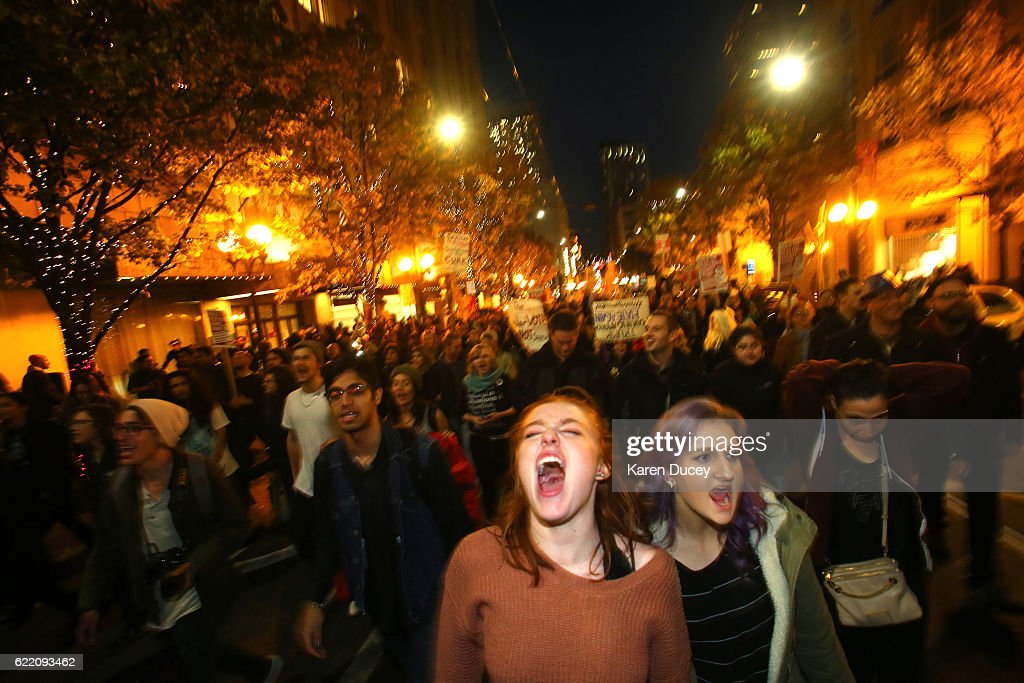 As Donald Trump Wins Presidency, Country Reacts : News Photo