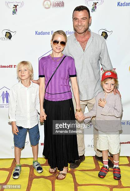 Sasha Schreiber Naomi Watts Liev Schreiber and Samuel Schreiber arrive at the Djanai's Angels Special Needs Family Prom supporting inCLUSION...