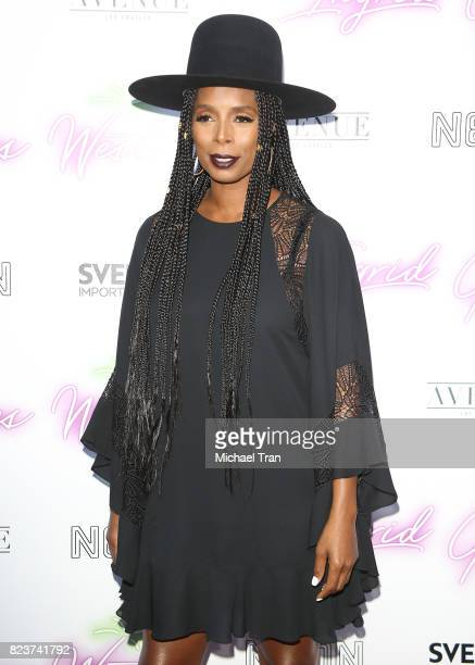 Sasha Smith arrives at the Los Angeles premiere of Neon's Ingrid Goes West held at ArcLight Hollywood on July 27 2017 in Hollywood California