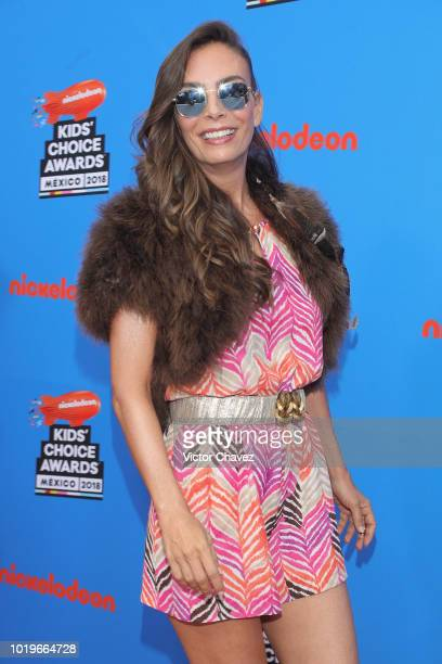 Sasha Sokol of Timbiriche attends the Nickelodeon Kids' Choice Awards Mexico 2018 at Auditorio Nacional on August 19 2018 in Mexico City Mexico