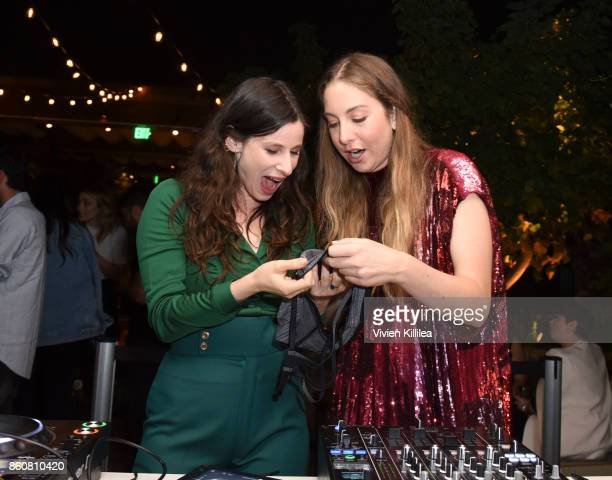 Sasha Spielberg and Este Haim attend NYLON's It Girl Party At The Highlight Room At Dream Hollywood on October 12 2017 in Hollywood California