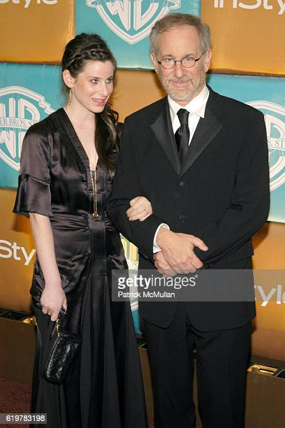 Sasha Spielberg and Steven Spielberg attend InStyle WARNER BROS Post GOLDEN GLOBE PARTY at Oasis Court at The Beverly Hilton on January 15 2007 in...