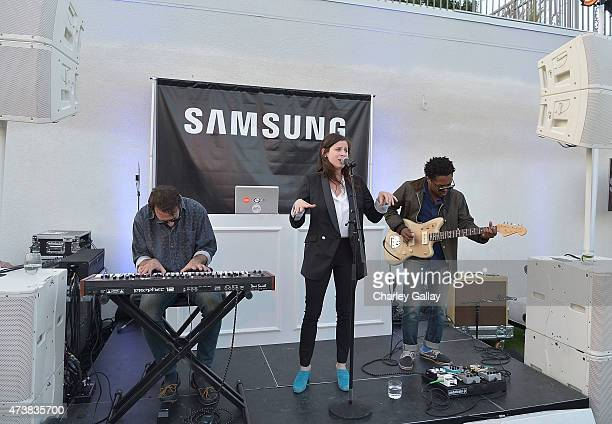 Sasha Spielberg and Theo Spielberg of the band Wardell perform at Samsung Home Appliances Hosts Billboard Music Awards Viewing Party at the London...