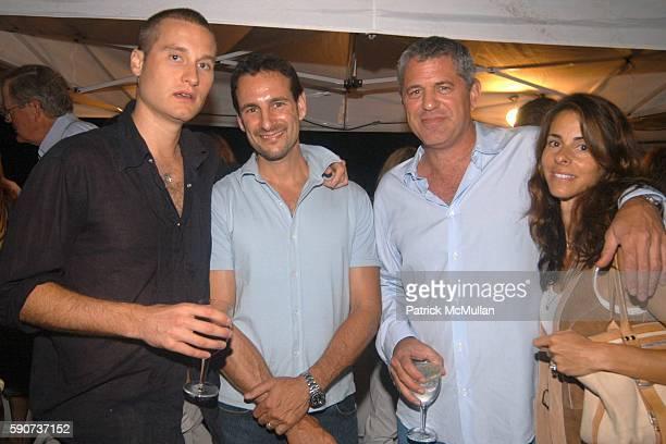 Sasha Tcherevkoff David Schlachet Robert Futterman and Joyce Zylberberg attend Hamptons Film Festival Elle Magazine Host a Beach Dinner Following the...
