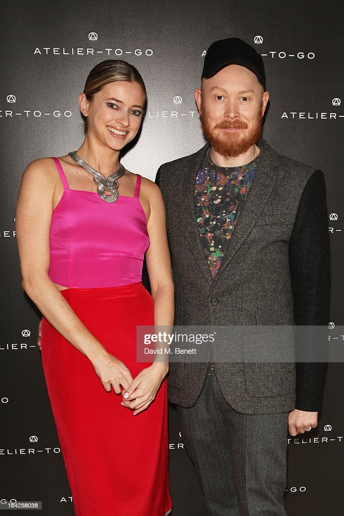 Sasha Ternent and Andrew Davis attend the launch party for Atelier-To-Go at Agua Spa, The Sanderson Hotel on March 21, 2013 in London, England. Atelier-To-Go is a brand-new fashion platform that offers a carefully-curated edit of contemporary labels, with a mix of luxe essentials & must-have trends, to offer a complete, covetable wardrobe.