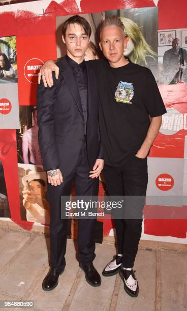 Sasha Trautvein and Jefferson Hack attend Dazed 100 presented by Dazed and YouTube Music at St Giles House on June 26 2018 in London England