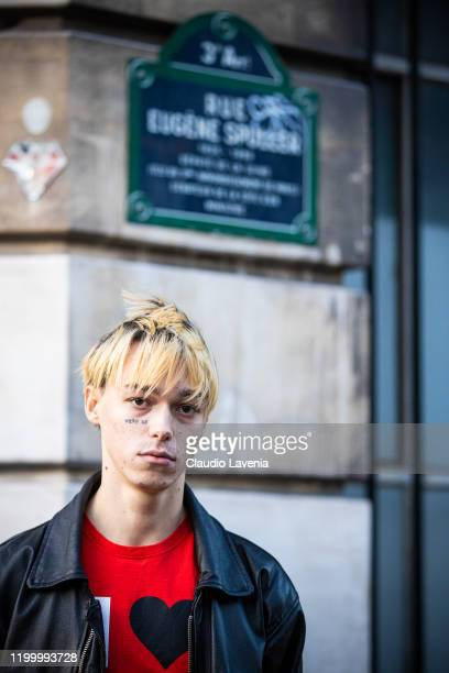 Sasha Trautvein attends the Heron Preston Menswear Fall/Winter 2020-2021 show as part of Paris Fashion Week on January 16, 2020 in Paris, France.