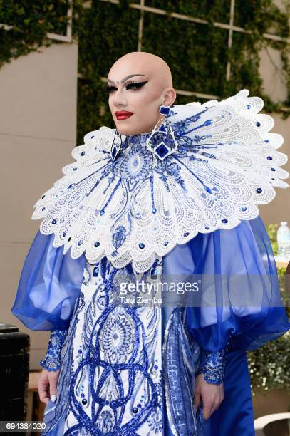 Sasha Velour arrives at 'RuPaul's Drag Race' Season 9 Finale Taping at Alex Theatre on June 9 2017 in Glendale California