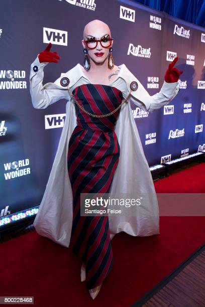 Sasha Velour attends 'RuPaul's Drag Race' Season 9 Finale Viewing Party at Stage 48 on June 23 2017 in New York City