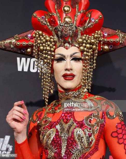 Sasha Velour attends 'RuPaul's Drag Race' season 9 premiere party meet The Queens Event at PlayStation Theater on March 7 2017 in New York City
