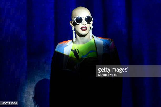 Sasha Velour performing onstage during 'RuPaul's Drag Race' Season 9 Finale Viewing Party at Stage 48 on June 23 2017 in New York City