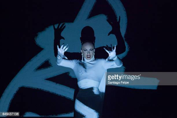 Sasha Velour performs onstage during 'RuPaul's Drag Race' Season 9 Premiere Party Meet The Queens Event at PlayStation Theater on March 7 2017 in New...
