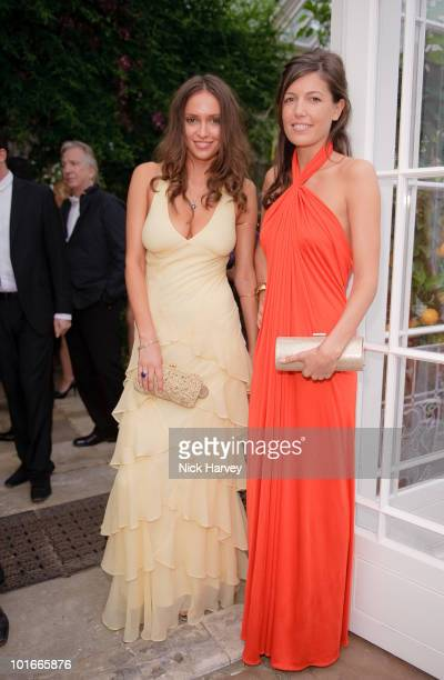 Sasha Volkova and Amanda Sheppard attend the annual Raisa Gorbachev Foundation Party at Stud House Hampton Court on June 5 2010 in London England