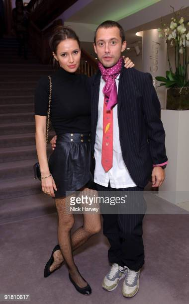 Sasha Volkova and Dan MacMillan attend reception hosted by Graff held in aid of FACET at Christie's King Street on October 12 2009 in London England
