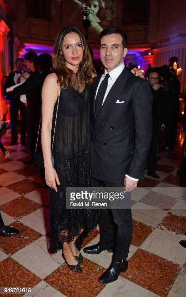 Sasha Volkova and guest attend a party to celebrate Nefer Suvio's birthday hosted by The Count and Countess Francesco Chiara Dona Dalle Rose at...
