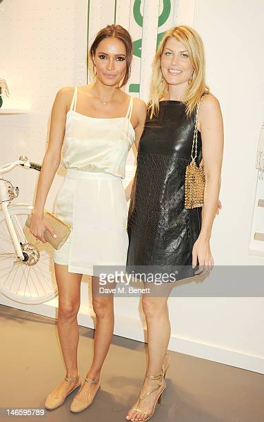 Sasha Volkova and Meredith Ostrom attend the launch of Lacoste's new London Flagship store in Knightsbridge on June 20 2012 in London England