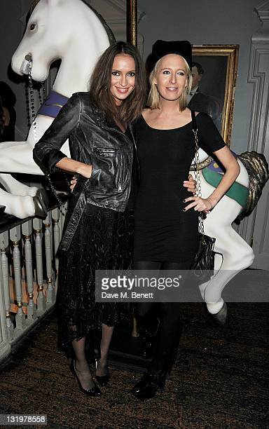 Sasha Volkova and Sophia Hesketh attend the Alice Olivia Black Tie Carnival hosted by designer Stacey Bendet at Paradise by Way of Kensal Green on...