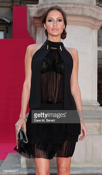 Sasha Volkova arrive at the Royal Academy of Arts Summer Exhibition Preview Party at Royal Academy of Arts on May 30 2012 in London England