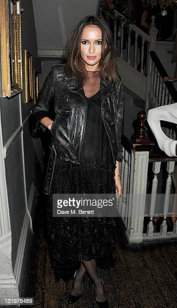 Sasha Volkova attends the Alice Olivia Black Tie Carnival hosted by designer Stacey Bendet at Paradise by Way of Kensal Green on November 9 2011 in...