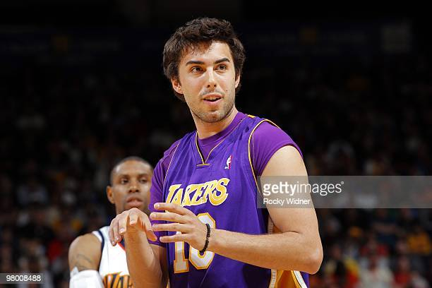 Sasha Vujacic of the Los Angeles Lakers looks on during the game against  the Golden State 4a214e226