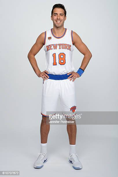 Sasha Vujacic of the New York Knicks poses for a portrait during media day at the Ritz Carlton in White Plains New York on September 26 2016 NOTE TO...