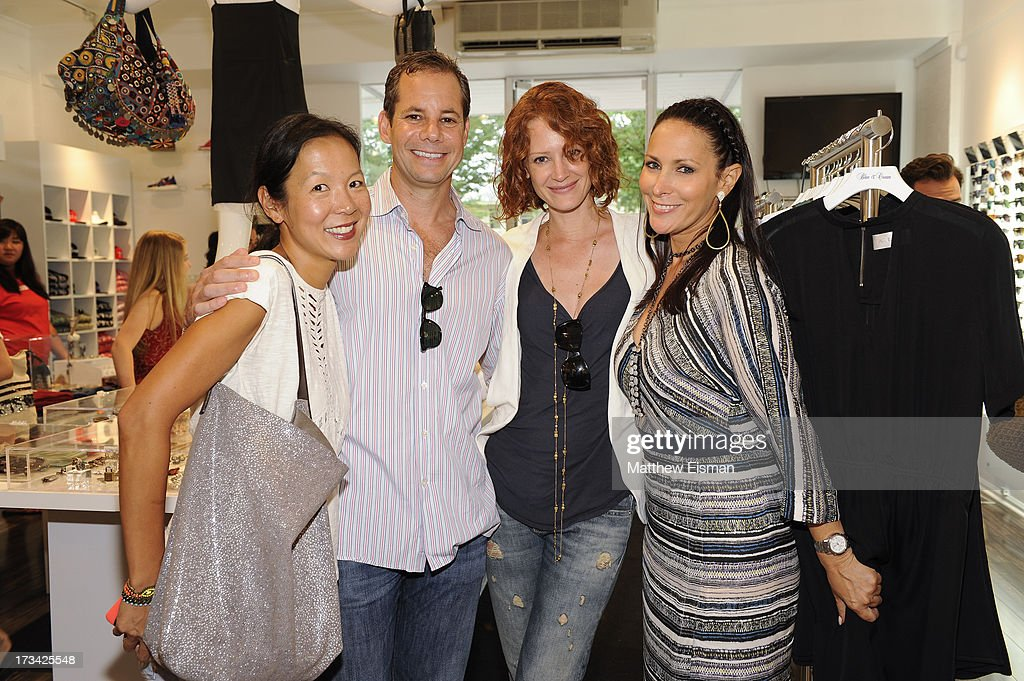 Sasha Wachsteter, David Blau, Valerie Jean Garduno and designer Lori Levine attend Blue & Cream presents the Hamptons Summer Soiree with Comes With Baggage and Havaianas on July 13, 2013 in East Hampton, New York.
