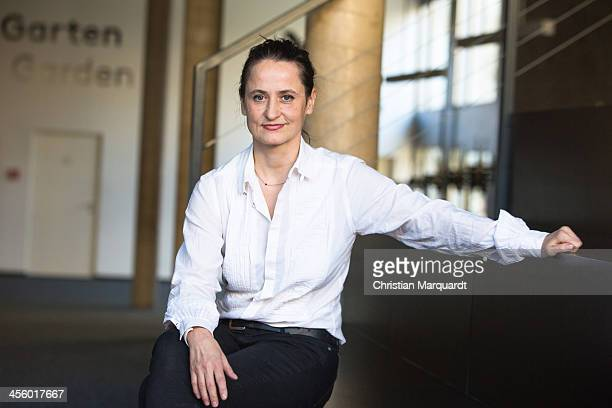 Sasha Waltz poses after the press conference in the 'Berliner Festspiele' on December 13 2013 in Berlin Germany