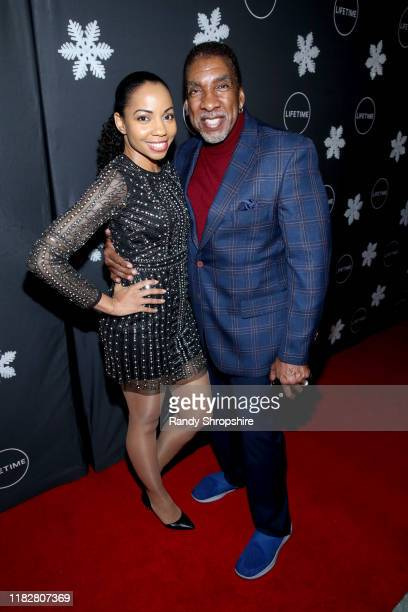 """Sashani Nichole and Stan Shaw attend It's a Wonderful Lifetime"""" first holiday party of the year at STK Los Angeles on October 22 2019 in Los Angeles..."""