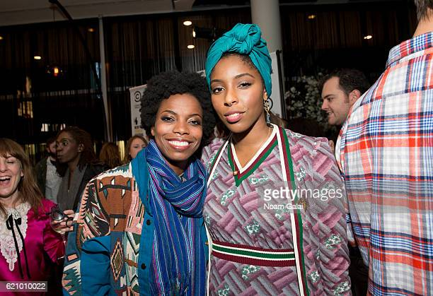 Sasheer Zamata and Jessica Williams attend Comedy Central's New York Comedy Festival kickoff party on November 3 2016 in New York City