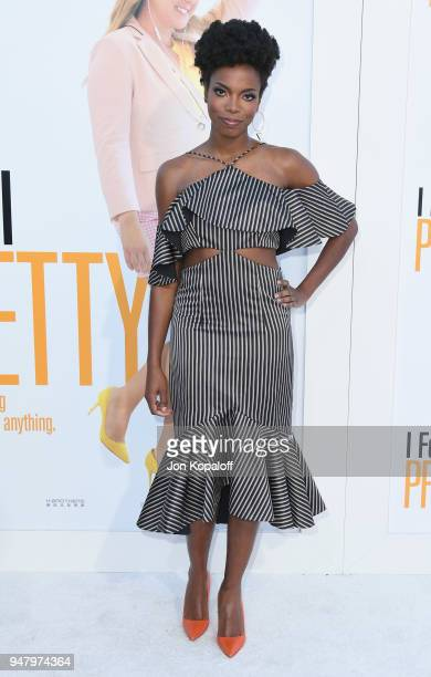 Sasheer Zamata attends the premiere of STX Films' 'I Feel Pretty' at Westwood Village Theatre on April 17 2018 in Westwood California