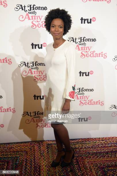 "Sasheer Zamata attends the premiere screening and party for truTV's new comedy series ""At Home with Amy Sedaris"" at The Bowery Hotel on October 19..."