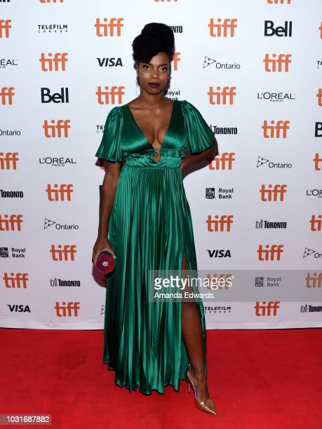 Sasheer Zamata attends the The Weekend premiere during 2018 Toronto International Film Festival at Ryerson Theatre on September 11 2018 in Toronto...