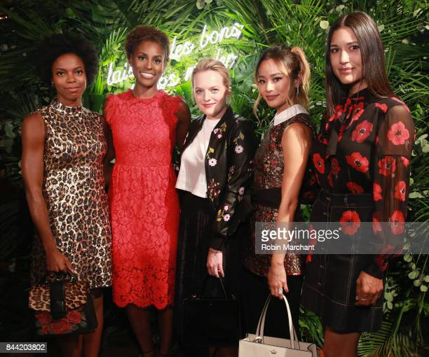 Sasheer Zamata Issa Rae Elisabeth Moss Jamie Chung and Julia Jones attend Kate Spade Presentation during New York Fashion Week on September 8 2017 in...