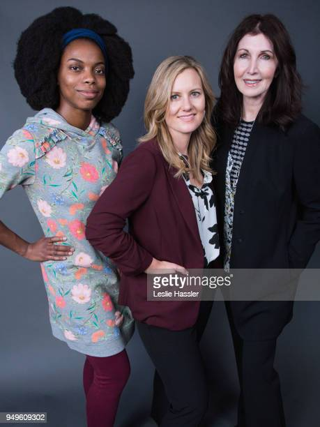Sasheer Zamata Rebecca Keegan and Joanna Gleason pose for a portrait during the Jury Welcome Lunch 2018 Tribeca Film Festival at Tribeca Film Center...