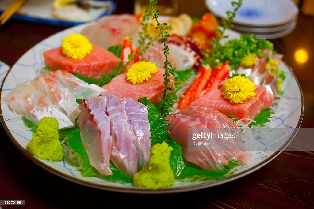 Sashimi for three : Foto stock