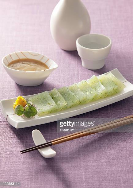 sashimi konnyaku - konjac stock pictures, royalty-free photos & images
