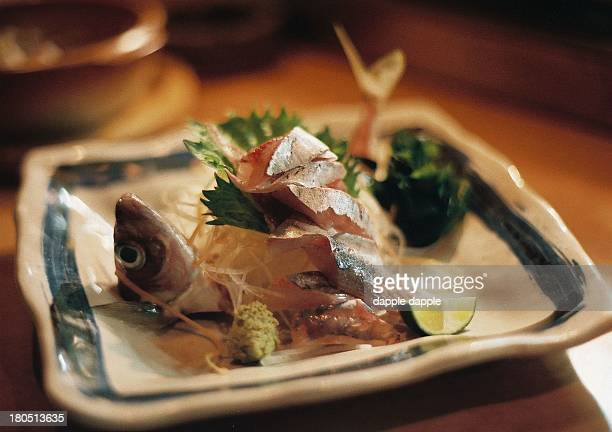 Sashimi of horse mackerel