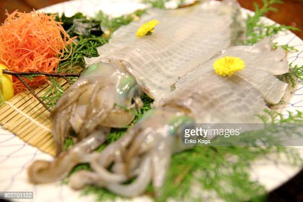 sashimi of squid - 佐賀県 ストックフォトと画像