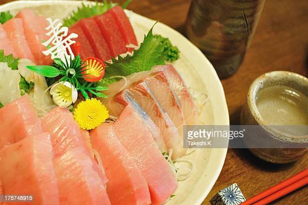 Sashimi (Tuna and Greater amberjack)